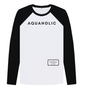 Aquaholic BW Baseball shirt