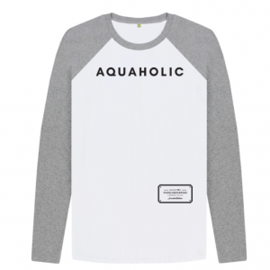 Grey Aquaholic Baseball Shirt